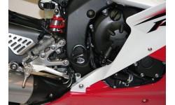 Tampons de protection inférieurs R&G RACING Aero noir Yamaha YZF-R6 06/17