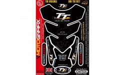 Protection de réservoir MOTOGRAFIX 4pcs noir Isle of Man