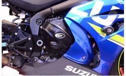 Couvre-carter droit (embrayage) R&G RACING Race Series noir Suzuki GSX-R1000 17/18