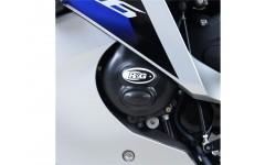 Couvre-carter gauche R&G RACING Race Series noir Yamaha YZF-R6 08/17