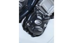 Couvre carter R&G RACING Race Series droit (pompe à huile) noir Yamaha R1 15/17