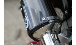 Protection de silencieux tri-oval droit R&G RACING noir