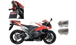 SILENCIEUX SCORPION STEALTH OVAL INOX POUR HONDA CBR600 RR