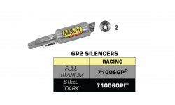 "Kit Arrow silencieux GP2 ""Dark"" SUZUKI GSXR 600 11/16"