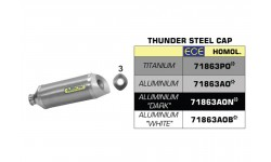 "Silencieux Arrow Thunder Aluminium ""White"" R6 17/19"