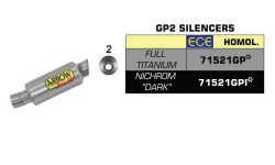 Kit silencieux GP2 Arrow R1 17/19