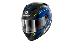Casque SHARK RACE-R PRO CARB GUINTOLI Carbon Blue Yellow