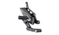 Commandes reculées réglables/repliables LIGHTECH sélection standard noir Yamaha MT-07