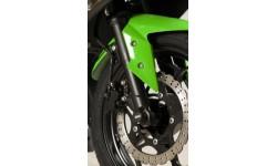 Protection de fourche R&G RACING noir Kawasaki Ninja 300