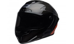 Casque BELL Race Star Flex DLX Carbon Lux Matte/Gloss Black/Orange