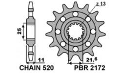 Yamaha R6 2006/2018 Pignon PBR acier Racing pas 520 type 2172