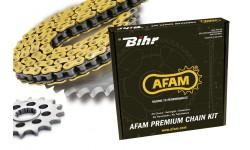 KAWASAKI Z750 ABS 2007/2013 Kit chaine AFAM 520 type XSR (couronne standard)