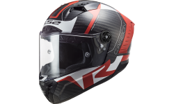 Casque LS2 Thunder FF805 Carbon Racing Rouge Blanc